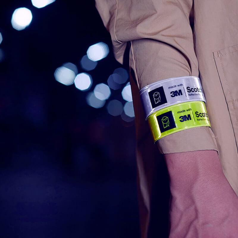 反光腕带夜跑夜骑行必备品  国科严选秒秒测